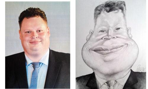 Karikaturbeispiel 1 / caricature example 1