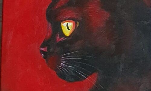 """CAT IN RED-No.4"""