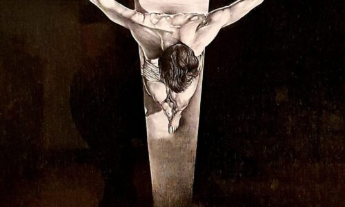 """The Christ of St. John of the Cross / by Salvador Dali"""